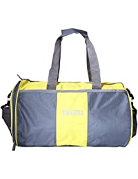 SureDeal Yellow & Grey Color Unisex Duffle Gym Bag