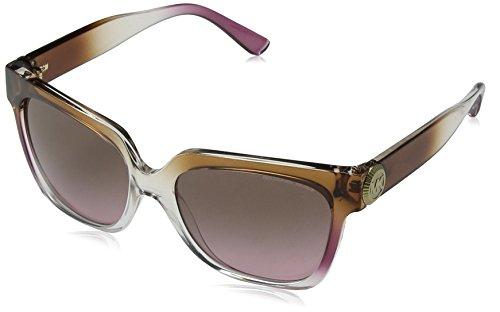 Michael Kors Damen ENA 328614 55 Sonnenbrille, Brown/Pink/Crystal/Brownrosegradient