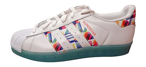 Silber light BB4308 Damen blue blue women Superstar sunset adidas Sneakers for glow wtYYUq