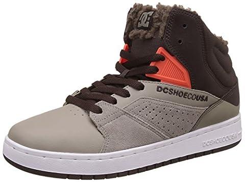DC Shoes Seneca, Sneakers Basses homme - Gris - Grau (BROWN/Grey - BURG), 42