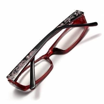 New 2007 products Red Female Diamond Flower Frame Presbyopic Reading Glasses Eyeglasses 1.0 1.5 2.0 2.5 3.0 3.5 4.0 (3.5)