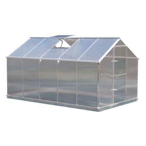 Aluminium Gewächshaus Typ F5 - 8,49 m² - 6 mm starke Hohlkammerscheiben
