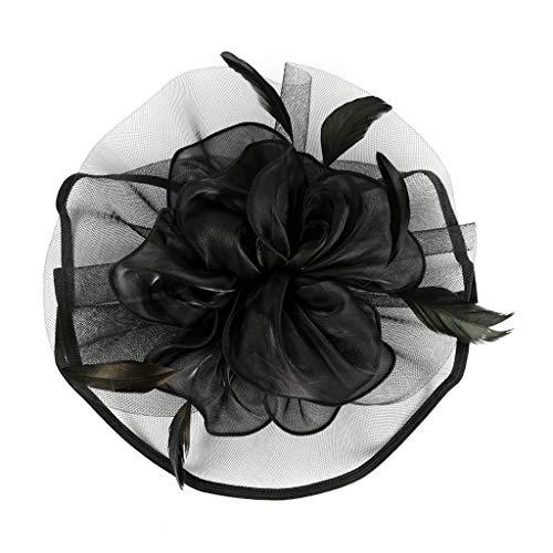 YWLINK Tanzparty Party Retro Headwear FüR MäDchen Und Damen 1920er Jahre ZubehöR Stirnband Klassisch Fascinators Hut Blume Mesh BäNder Federn Auf Einem Stirnband Cocktail Tea
