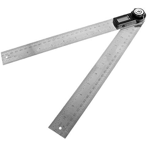 300mm 2-in1 Digital Angolo Finder Misuratore Protractor Goniometro Ruler