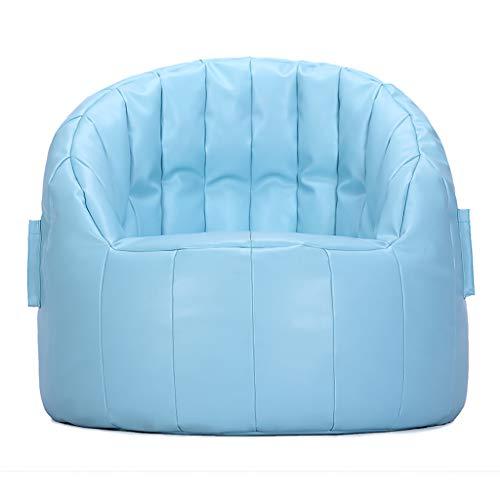 PU Scallop Stuhl, Lazy Sofa Sitzsack Mini Small Lounge Stuhl, Gaming Stuhl Legless Rückenlehne...