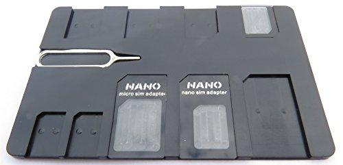 Estuche para tarjetas SIM con 3 adaptadores y pin para iPhone, tamaño...