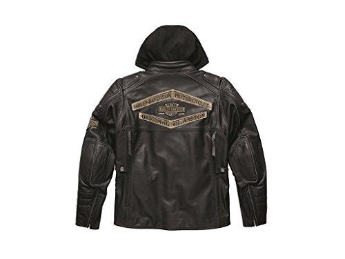 Harley-Davidson Lederjacke Triple Vent System Upton Schwarz