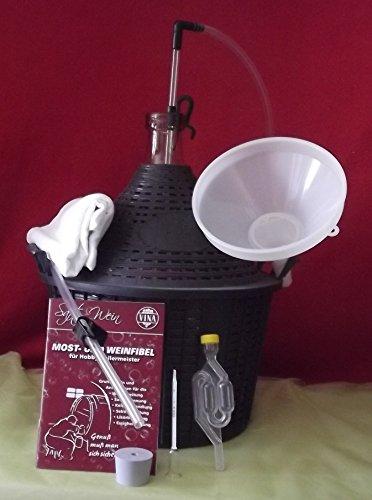 Wein selber machen, umfangreiches Startset mit 15 Liter Gärballon