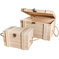 RAYHER HOBBY Mix Credit 62651000- Juego de baúles de Madera, FSC, Color marrón, 3,02x 2,12x 1,8cm - Muebles de Dormitorio precios