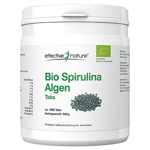 Bio Spirulina Tabletten (1060 Stück) | 500mg hochdosiert | 100{37d26b28e2a9ac30b5d15394455a1163c5d2ca3158a7b8d76c3e46c464febf4a} Rein | Vegane Chlorella Algen Presslinge | OHNE Magnesiumstearat | Abgefüllt und kontrolliert in Deutschland (DE-ÖKO-006)