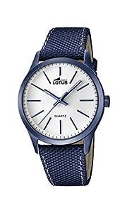 Lotus 18166/1 - Reloj de Pulsera Hombre, Cuero, Color Azul