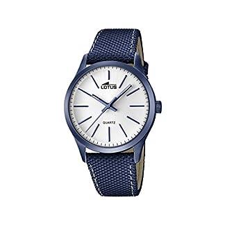 Lotus 18166/1 – Reloj de Pulsera Hombre, Cuero, Color Azul