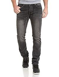 Deeluxe 74 - Jeans noir délavé droit