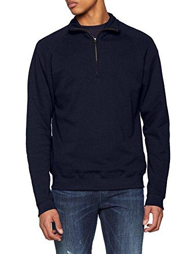 Fruit of the Loom Herren Sweatshirt Classic Zip Neck Sweat, Blau (Deep Navy AZ), XXL (Xxl Zip-sweatshirts)