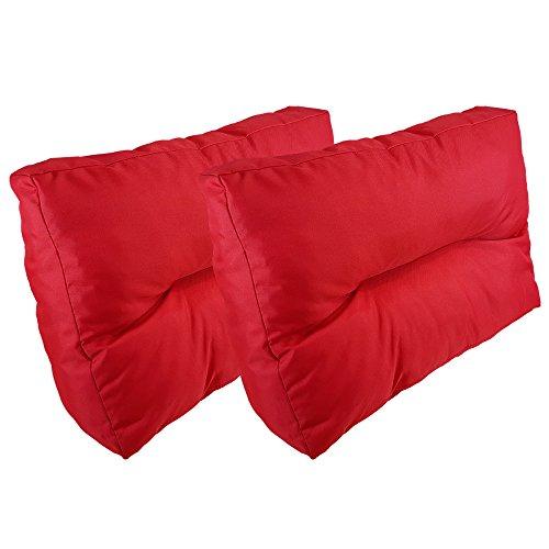 proheim Palettenkissen Lounge 4-teiliges Set 1 Sitzkissen + 3 Rückenkissen in Rot Sitzpolster für Europaletten Paletten-Sofa - 6