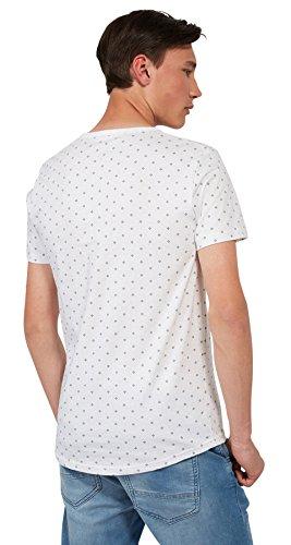 Tom Tailor Denim für Männer T-Shirt gemustertes T-Shirt sea spray