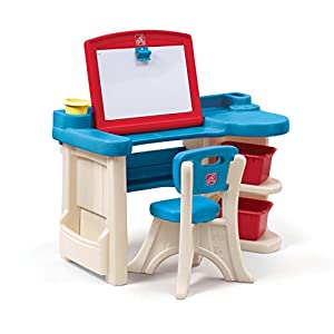 Step 2 843100 Escritorio para niños Azul, Marrón, Rojo De plástico - Escritorios para niños (Azul, Marrón, Rojo, De plástico, 34 kg, 2 año(s), CE EN 71, EE.UU.)