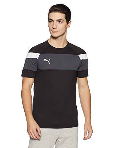 Puma spirit ii leisure t-shirt, maglietta unisex - adulto, black/white, m