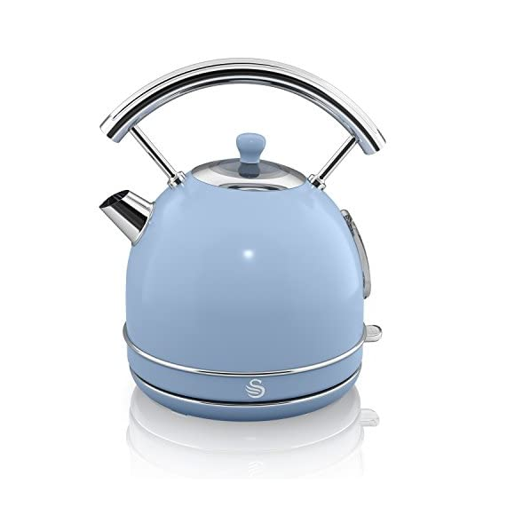 Swan Sk34020bln Retro Dome Kettle 1 7 Litre Duck Egg Blue