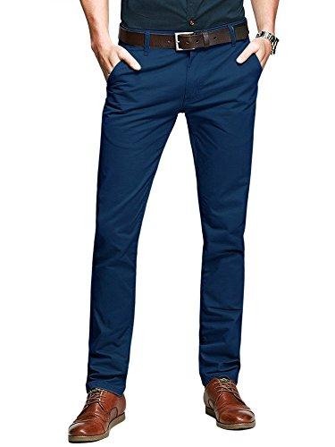OCHENTA - Pantaloni - Attillata - Uomo Zaffiro blu 29