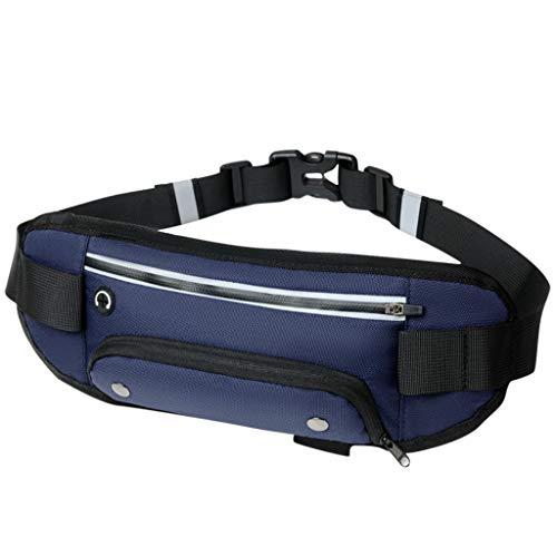 WFRAU Unisex Tactical Waist Pack, Herren Damen Einfarbig Multifunktionale Reflektierende Gürteltasche für Camping Wandern Arbeitstasche Brieftasche Handyhalter Laufen Gürteltaschen