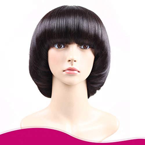TYXHZL Europäische und Amerikanische Pilz Kopf Schnalle Perücke Welle Kopf Mode Realistisch