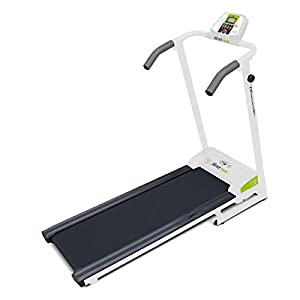 41yg8H2Y mL. SS300  - Tecnovita by BH SLIMRUNNER YF35. 10 km/h. Get in shape in the comfort of your own home! Foldable motorised treadmill. Self-centering system band. 4 training programs. White