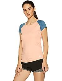 Symbol Amazon Brand Women's Raglan Round Neck T-Shirt