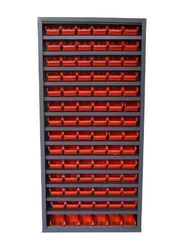Rote-speicher-kabinett (Viso asp84Pa02r 84-bins Schrank ohne Tür–ROT)