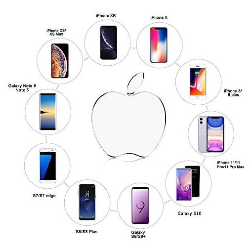 CHAOYETECH Caricabatterie Wireless, Pad di Ricarica Wireless Veloce con Certificazione Qi 10W per iPhone XS Max/XR/XS/X / 8/8 Plus, Galaxy S10 / S10 Plus / S10E / S9 / S9 + / S8 e Altro