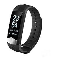 Pulsera Actividad Pulsera Inteligentes Pulsómetro con Podómetros Ritmo Cardiaco Aire Libre Monitor de Sueño Pulsera contador de calorías Monitor Deporte para Android/iOS Smartphone