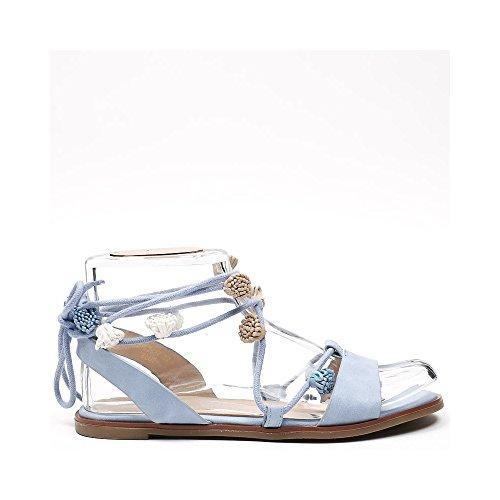Ideal Shoes, Damen Sandalen Himmelblau