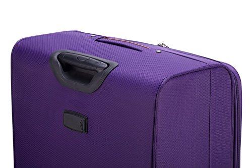 HAUPTSTADTKOFFER® 112 Liter (ca. 80 x 50 x 28 cm) Weichgepäck · Reisekoffer · MITTE LIGHT · in verschiedenen Farben (Lila) Lila
