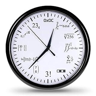 getDigital Mathe-Uhr - Verschlüsselte Wanduhr mit vielfältigen Mathematik Aufgaben - Kreativer Geschenk-Artikel im eleganten Design