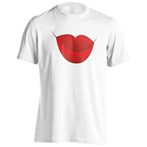 Baciami le labbra rosse amore novità divertente Uomo T-shirt f535m White