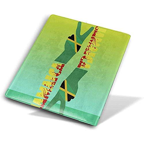 Jamaca Victory Geste in grünem PU-Leder Buch Cover Book Sleeve wiederverwendbare langlebige wasserdichte Buch-Protektoren für Studenten Worker -