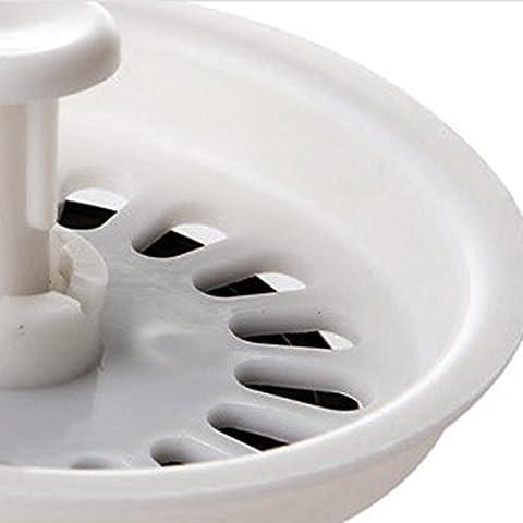 Coladores de Cocina Fregadero Cesta de Filtro Cuenca de Baño Drenaje Tapón Sumidero de Plástico