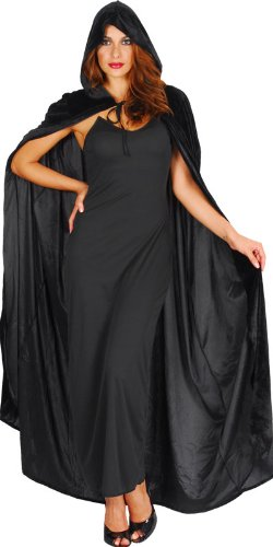 Imagen de capa de bruja negra disfraz de lujo  halloween alternativa