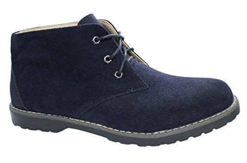 Scarpe polacchine uomo blu casual camoscio sneakers stivaletti invernali numero 40 41 42 43 44 45 (42)