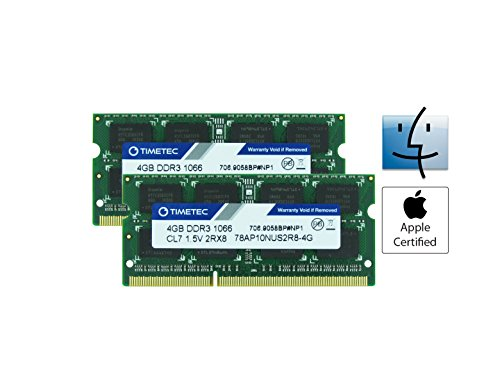Apple 4 Gb Imac Ram (Timetec Hynix IC Apple 8GB Kit (2x4GB) DDR3 PC3-8500 1066MHz memory upgrade for iMac 21.5 inch/27 inch/20 inch/24 inch, MacBook Pro 13 inch/ 15 inch/ 17 inch, Mac mini 2009 2010 (8GB Kit (2x4GB)))