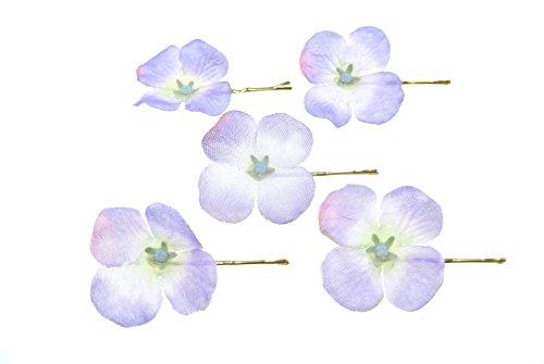 clarigo Haarnadeln Haarklammern Haarklemme Hortensie lila Hochzeit Kommunion Blumen Blumenmädchen