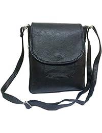 VALGA Black Premium Quality Faux Leather Cross Sling Bag For Women/Girls