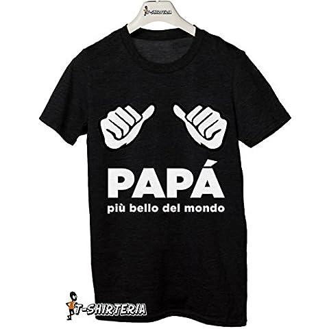 T-Shirteria - Camiseta para regalo del día del Padre, todas las tallas, modelo mejor padre negro Talla:XXL