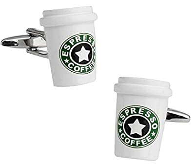 PSR Espresso Coffee novelty Cufflinks coffee cup design Cuff-Links from PSR