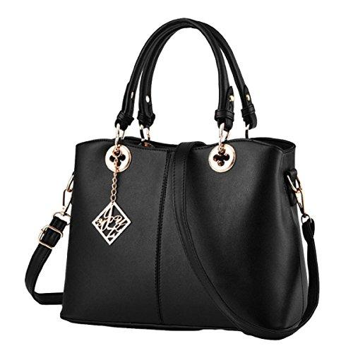 Handtaschen Mode Casual Handtaschen Umhängetasche Messenger Bag Handtaschen Modische Mode Black