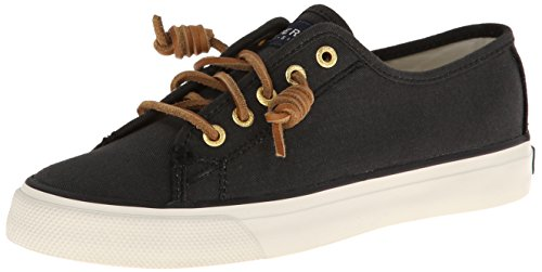 Sperry Top-Sider Women's Seacoast Fashion Sneaker, Black, 5 M US