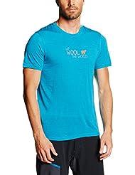 Ortovox–Camiseta para hombre (lana merino World, primavera/verano, hombre, color Turquesa - azul turquesa, tamaño L