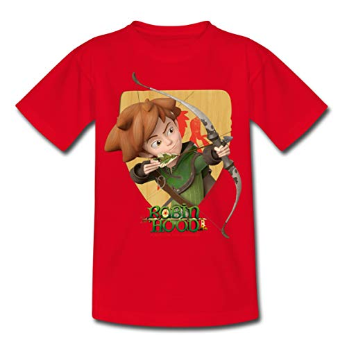 Spreadshirt Robin Hood Schießt Mit Seinem Bogen Kinder T-Shirt, 98/104 (3-4 Jahre), Rot Robin Hood Shirt