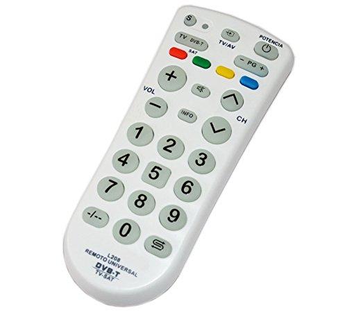 Takestop® telecomando universale l208 tasti grandi sat digitale terrestre tv dvb-t satellite televisore multi controllo