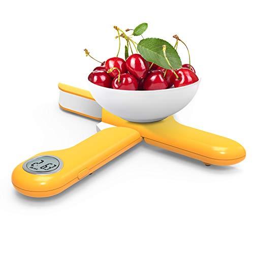 CAMRY Zusammenklappbare Digitale Elektronische Küchenwaage, Digitalwaage, Elektronische Wage, 5KG/1g, LCD-Display, mit Tara-Funktion (Orange)